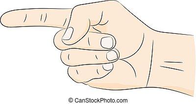 Forefinger gesture. Vector illustration .