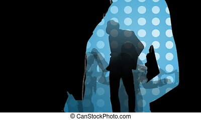 Animation showing young people in a night club in high...