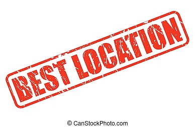 BEST LOCATION red stamp text on white