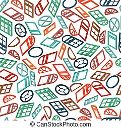 seamless pattern color isometric window