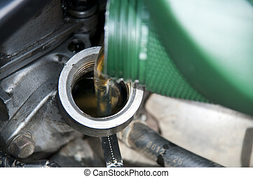 Oil change - Service change of oil in car-care centre