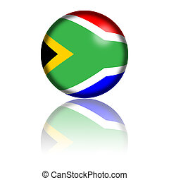 South Africa Flag Sphere - Sphere of South Africa flag with...
