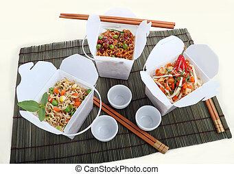 Take Away Noodles - BBQ egg noodles, vegetables noodles and...