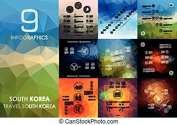 South Korea infographic with unfocused background - South...