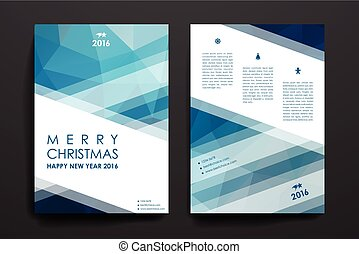 Set of brochure, poster design templates in Christmas style...