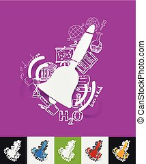 bell paper sticker with hand drawn elements - hand drawn...