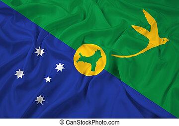 Flag of Christmas Island - Waving Flag of Christmas Island