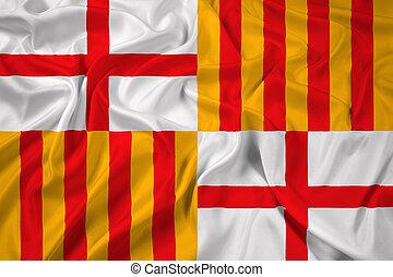 Waving Flag of Barcelona