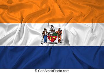 Waving Flag of Albany, New York