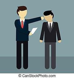 Businessman get fired, flat modern design