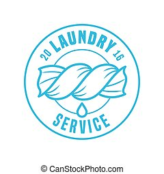 Laundry service vector template logo, label, sign