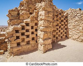 Masada, israele, Antico,  columbarium, fortezza