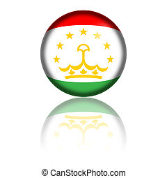 Tajikistan Flag Sphere - Sphere of Tajikistan flag with...