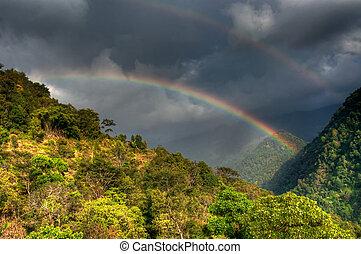 Rainbow on cloudy sky , Sikkim - Beautiful rainbow on cloudy...