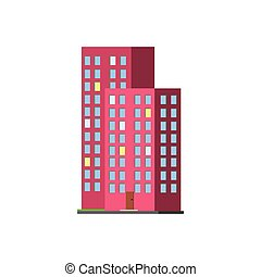 Tall Condominium Building Vector Design Simple Graphic...