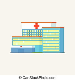 City Municipal Hospital Vector Design Simple Graphic...
