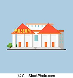 Public City Museum Vector Design Simple Graphic Illustration...