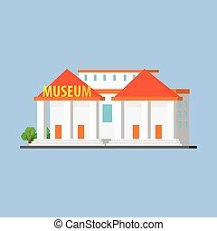 Public City Museum Vector Design Simple Graphic Illustration...
