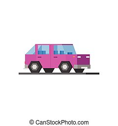 Purple Car Icon - Purple Car Vector Design Simple Graphic...