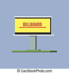 Empty Billboard For Advertising Vector Design Simple Graphic...