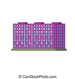 Big Purple Condiminium Vector Design Simple Graphic...