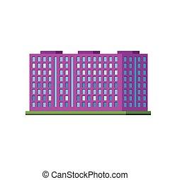 Big Purple Condiminium Vector Design Simple Graphic...