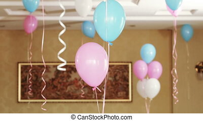 Balloons on children holiday