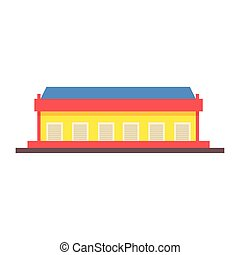 Dock Storehouse Building Vector Design Primitive Graphic...