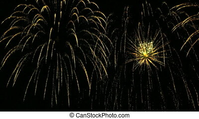 New Year celebration fireworks