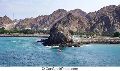 Muscat, Sultanate of Oman - Corniche and the old town of...