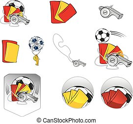 Football Items Symbols Set
