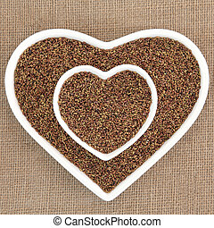 Alfalfa Seed - Alfalfa seed health food in heart shaped...