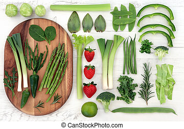 Red and Green Super Food - Red and green fresh super food...