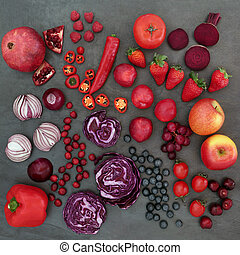 Red and Purple Health Food - Red and purple health food with...