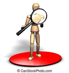 Searching with a magnifier - Someone is looking into a big...
