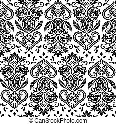 abstract floral ornate wallpaper