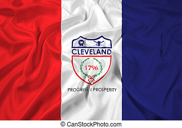 Waving Flag of Cleveland, Ohio