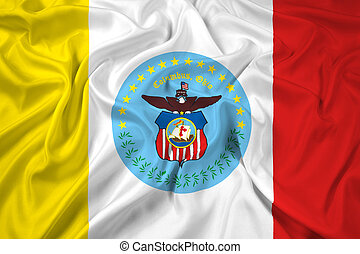 Waving Flag of Columbus, Ohio