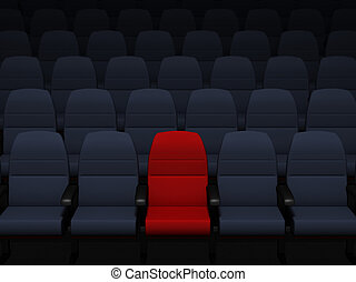 Theater seats - 3d rendered image of theater seats...