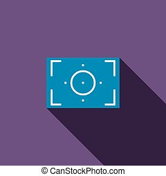 Camera viewfinder icon, flat style - Camera viewfinder icon...