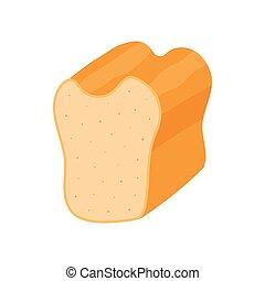 iWhite bread icon, cartoon style