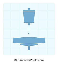 Lavabo Device for the washing of hands Vector illustration