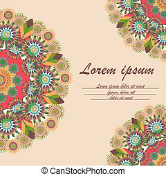 Greeting card with ornament mandala - Greeting card with a...