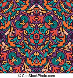 Abstract festive colorful ethnic vector pattern - tribal...