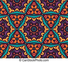 Abstract festive colorful floral vector pattern - Abstract...