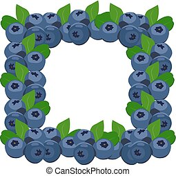 Frame blueberries
