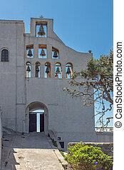 Monastery Prophet Elias, Santorini - Bell tower of Monastery...