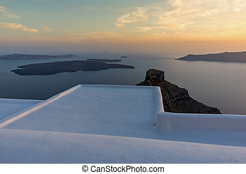 Amazing sunset, Santorini - Amazing sunset view from town of...