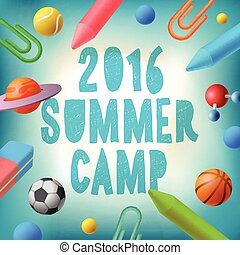 Summer camp 2016, themed poster