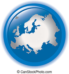 Europ concept icon web internet - Globe concept icon web...